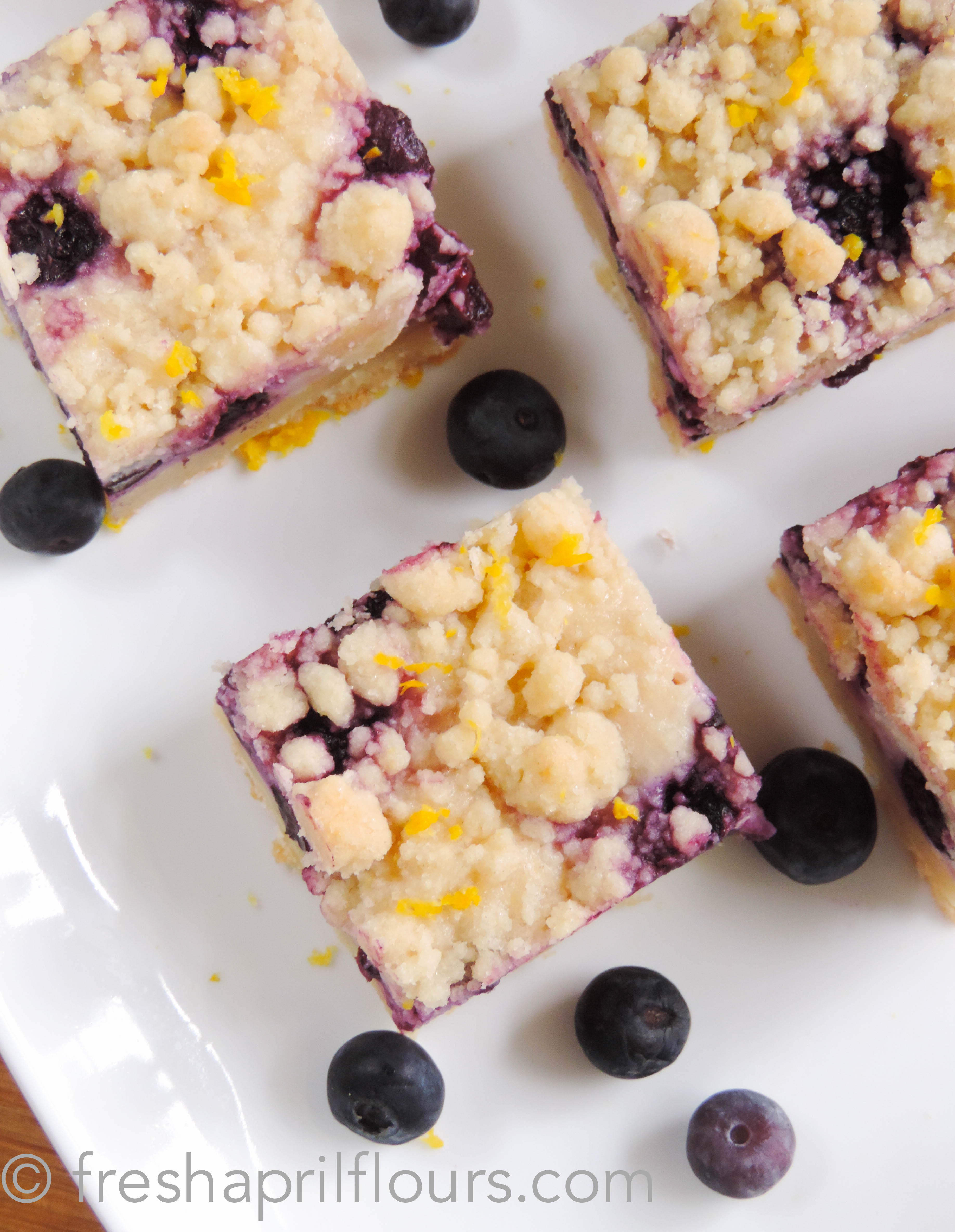 Blueberry Lemon Pie Bars | Fresh April Flours