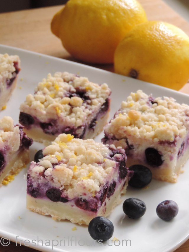 Fresh April Flours: Blueberry Lemon Pie Bars